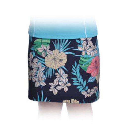 Monterey Club Ladies Stretchable Tropical Print Satin Woven Skort # 2879