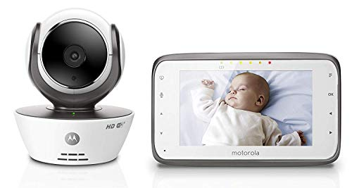 Motorola MBP854CONNECT Dual Mode Baby Monitor with 4.3-Inch LCD Parent Monitor and Wi-Fi Internet Viewing ()