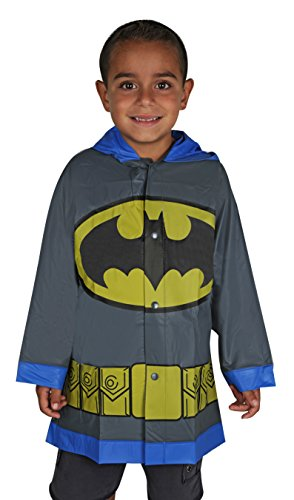 DC Comics Little Boys Batman Waterproof Outwear Hooded Rain Slicker - Toddler