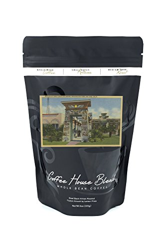 San Jose, CA - Replica of Egyptian Shrine, Rosicrucian Park (8oz Whole Bean Small Batch Artisan Coffee - Bold & Strong Medium Dark Roast w/ Artwork) - Egyptian Shrine