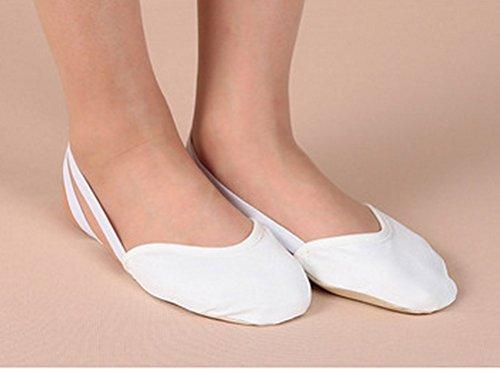 tfxwerws Dancing Shoes für Ballett oder Bauch Dance (weiß M)