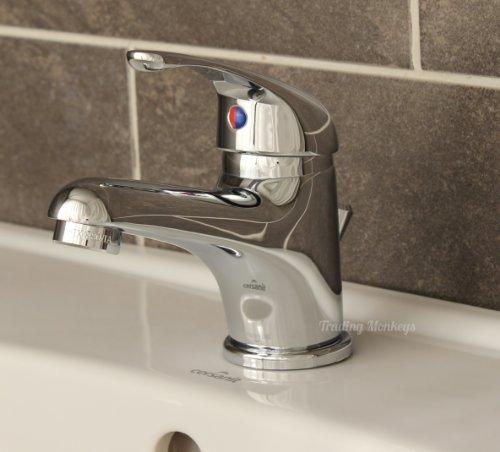 Waschtischarmatur Wasserhahn Einhebelmischer Waschbeckenarmatur + Ablaufgarnitur