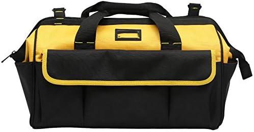 道具袋 プロフェッショナル電動工具ハンドバッグ、広口防水工具収納袋多機能テクニシャンバッグ ツール収納袋 (色 : Yellow, Size : 20inch)