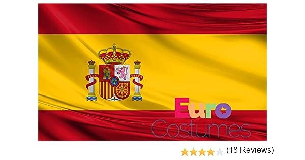 Bandera de España de poliéster gigante de 2, 4 x 1, 5 m: Amazon.es ...