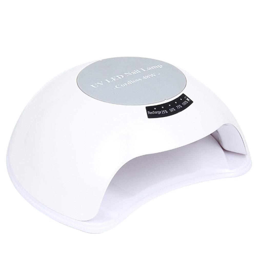 ジェルネイル用UVランプ、48Wネイルドライヤーセンサー90sタイマー付きネイル用UV / LEDランプ、すべてのジェルに適した取り外し可能な磁性プレート,White B07P8SGC11 White