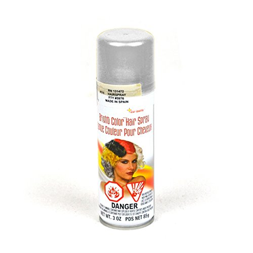 Forum Novelties Hair Spray, Silver