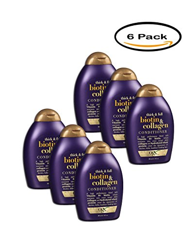 PACK OF 6 - OGX Thick & Full Biotin & Collagen Conditioner 13 fl. oz. Squeeze Bottle