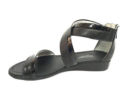 17601 NERO Scarpa donna sandalo Nero Giardini pelle made in italy