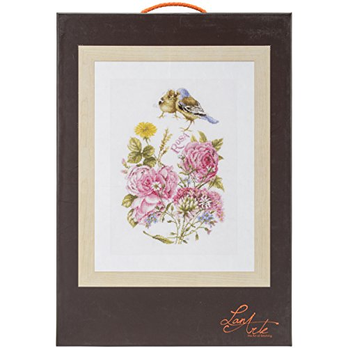 Vervaco LanArte Finches on Aida Counted Cross Stitch Kit, 10