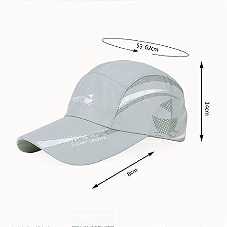 GHMM Berretto da baseball da uomo estivo da sole cappello da esterno  sportivo berretto da donna Street protezione solare visiera traspirante per  il tempo ... 07d49ae9e400