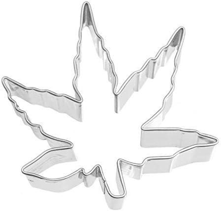 RBV Birkmann Räder Design - Molde para Galletas, diseño de Hoja de Cannabis (6 cm/Acero Inoxidable)