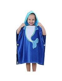 Baby Boys Girls Hooded Bath Towel - Kids Bathrobe Cartoon Animal Sleepsuit