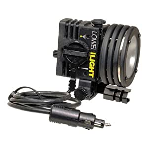 Lowel id-Light Complete Set, Focusable & Dimmable 55 Watt Tungsten Camera Top Lighting Outfit, with Cigarette Plug Connector