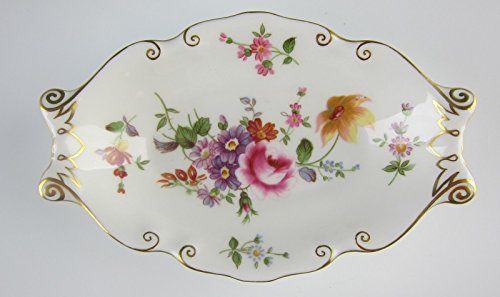 Royal Crown Derby China DERBY POSIES Silver Tray EXCELLENT (Crown Antique Derby Royal)