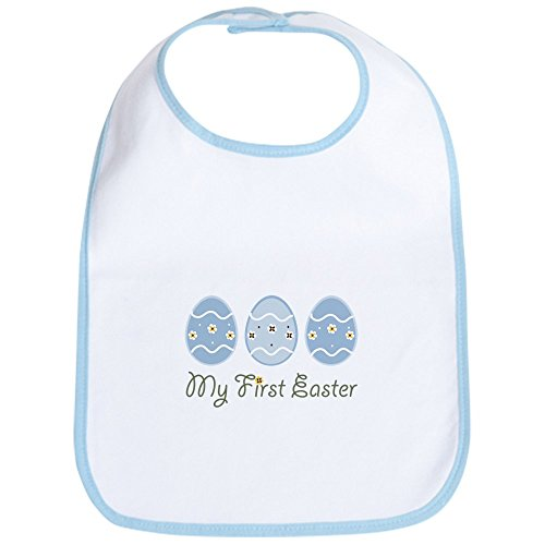 CafePress - My First Easter Eggs Bib - Cute Cloth Baby Bib, Toddler Bib