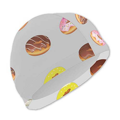 (Smany Fashion Donut Kids Swim Caps,High Elasticity, No Deformation Use,UV Protection, Waterproof Comfy Swimming Bathing Cap for Short and Long Hair)