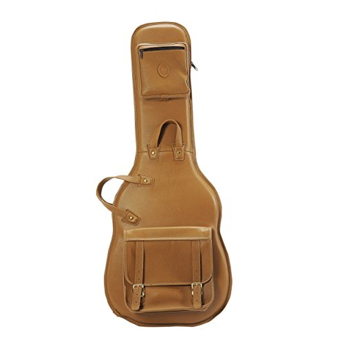 Levy's Leathers LM18-TAN Deluxe Leather Electric Guitar Bag, Tan ()
