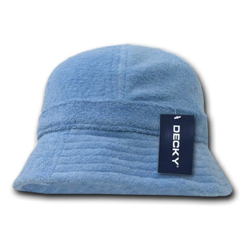 Decky Inc Soft Terry Cloth Snug Fit Summer Bucket Hats 980 Sky
