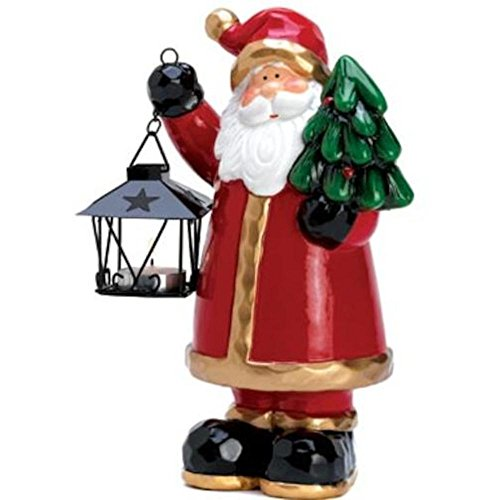 Santa Homespun - Homespun Santa Holding Mini Lantern