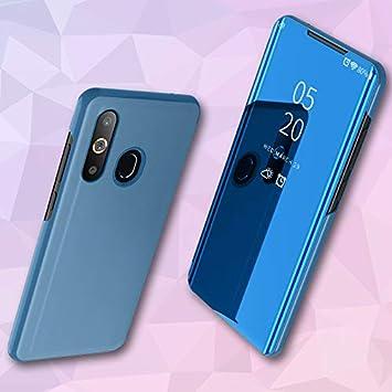 COVO® Funda Samsung Galaxy A50,Fundas de Espejo Elegante Carcasa de Función Inteligente para Dormir/Despertar,Vista Inteligente Cover Carcasa Funda ...