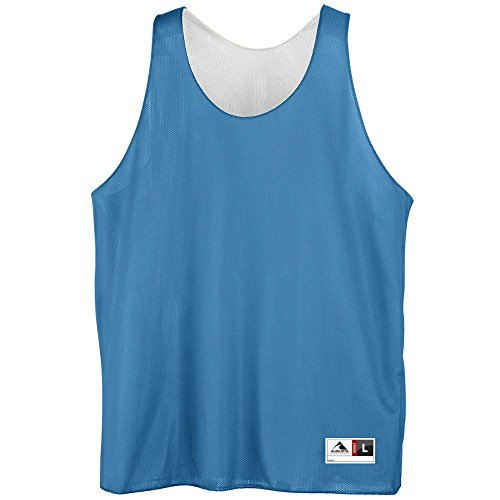 Youth Reversible Mini Mesh League Tank - COLUMBIA WHITE MEDIUM by Augusta Sportswear