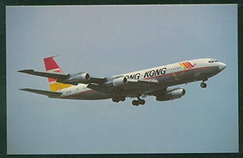 Air Hong Kong Airline Boeing B-707 Jet Airplane Kai Tak Airport Postcard