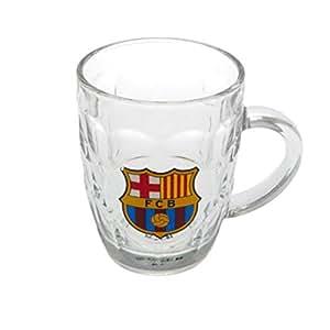 F.C. Barcelona jarra de cristal cerveza Tankard 12cm de alto aprox en una caja de acetato oficial