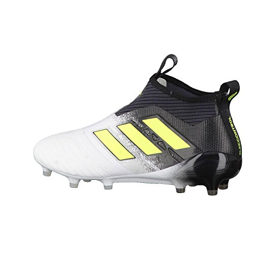 adidas Ace 17+ Purecontrol FG, Scarpe Sportive Uomo Bianco (Ftwbla/Amasol/Negbas)