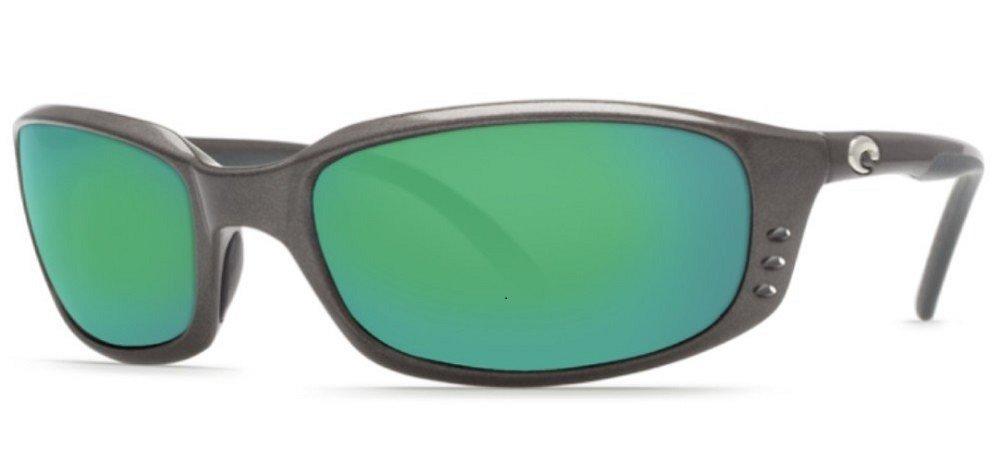Costa Del Mar Brine Sunglasses, Gunmetal/Green Mirror 580Glass by Costa Del Mar