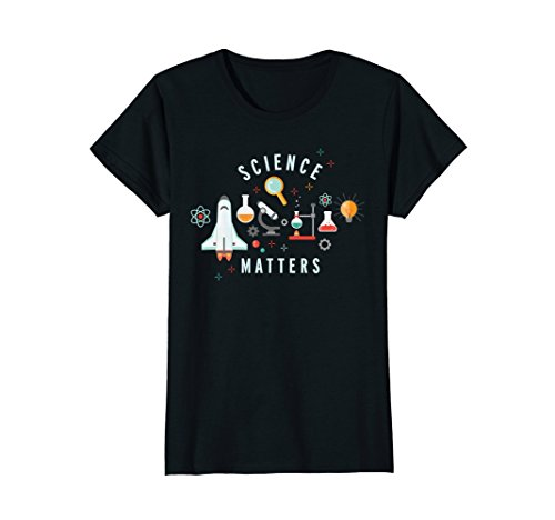 Women's Neil deGrasse Tyson Science Matters T-shirt DK Large Black