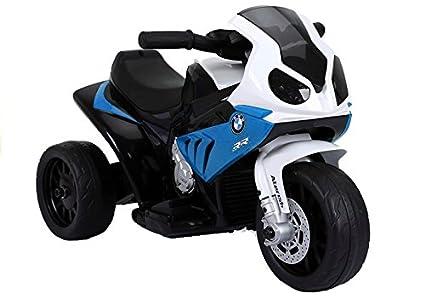 Moto Electrico para Niños Motocicleta Alimentado con Batería Vehículo Eléctrico - BMW S1000RR - Azul