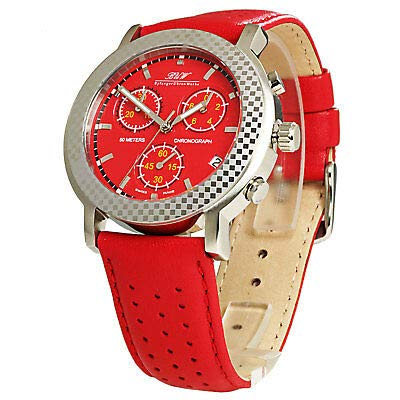 BUW - Nevera de Color Rojo: Amazon.es: Relojes