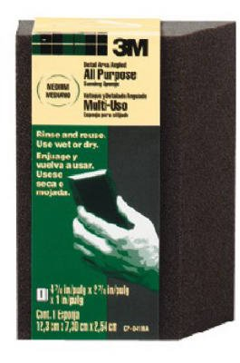 3M CP-041NA Large-Area Medium Flexible Angled Sanding Sponge - Quantity 24