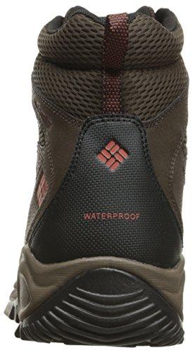 Columbia Gunnison, Zapatos de High Rise Senderismo para Hombre Cordovan/Sanguine