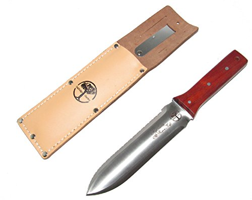 Price comparison product image Oakridge Garden Tools Hori Hori All Purpose Knife with Leather Sheath and Belt Clip,  6.75-Inch Blade
