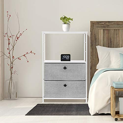 home, kitchen, furniture, bedroom furniture,  nightstands 4 picture Sorbus Nightstand 2-Drawer Shelf Storage - Bedside Furniture promotion
