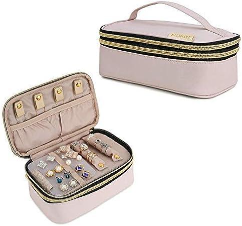 BAGSMART Bolsa Joyas Estuche Viaje para Anillos Pendientes Collares Reloj (Pink): Amazon.es: Hogar