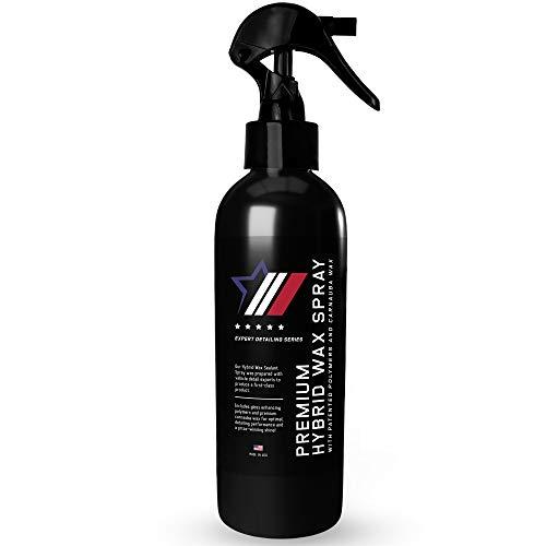 Autoamerics Hybrid Car Wax Sealant Spray - Most Advanced Quick Detailer - Top Coat Polish and Sealer on The Market - with Liquid Carnauba for a Deep Hydrophobic Mirror Shine on All Surfaces - 8 Ounces