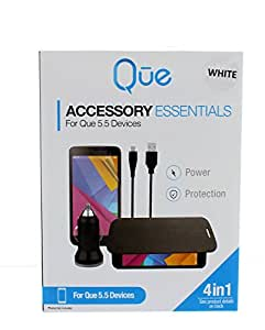 Que Accessory Essentials 4 in 1 For Que 5.5 Devices (White)
