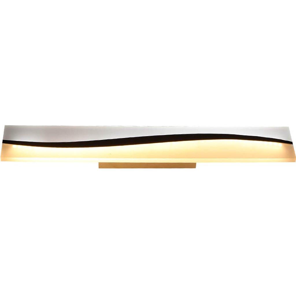 JXXDQ -Badezimmerbe leuchtung LED Badezimmer Spiegel Schlafzimmer Spiegel Beleuchtung Wasserdicht Anti Fog Hardware Weiß Warmes Licht -langlebig (Größe   59cm30w)