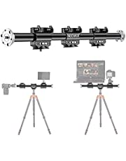 Neewer 25 inches/62centimeters Horizontal Tripod Arm, Camera Tripod Boom Arm Extension Arm with 3/8-inch Screw for Studio Outdoor Macro Overhead Photography, 5kg Load Capacity(Only Boom Arm Included)