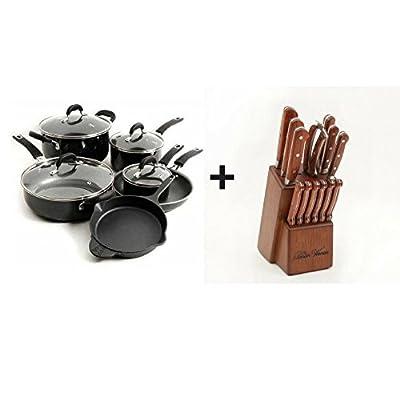 The Pioneer Woman Vintage Speckle 10-Piece Non-Stick Pre-Seasoned Cookware Set