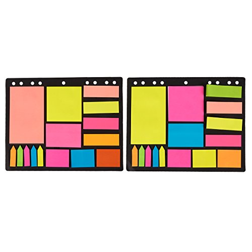 Pack of 600 Index Tabs, Bookmark Stickers and Memo Flags - Color Coded Sticky Notes Self Stick Note Pads Post Notes for Students, Office Use, Home (Sticky Notes Pack)