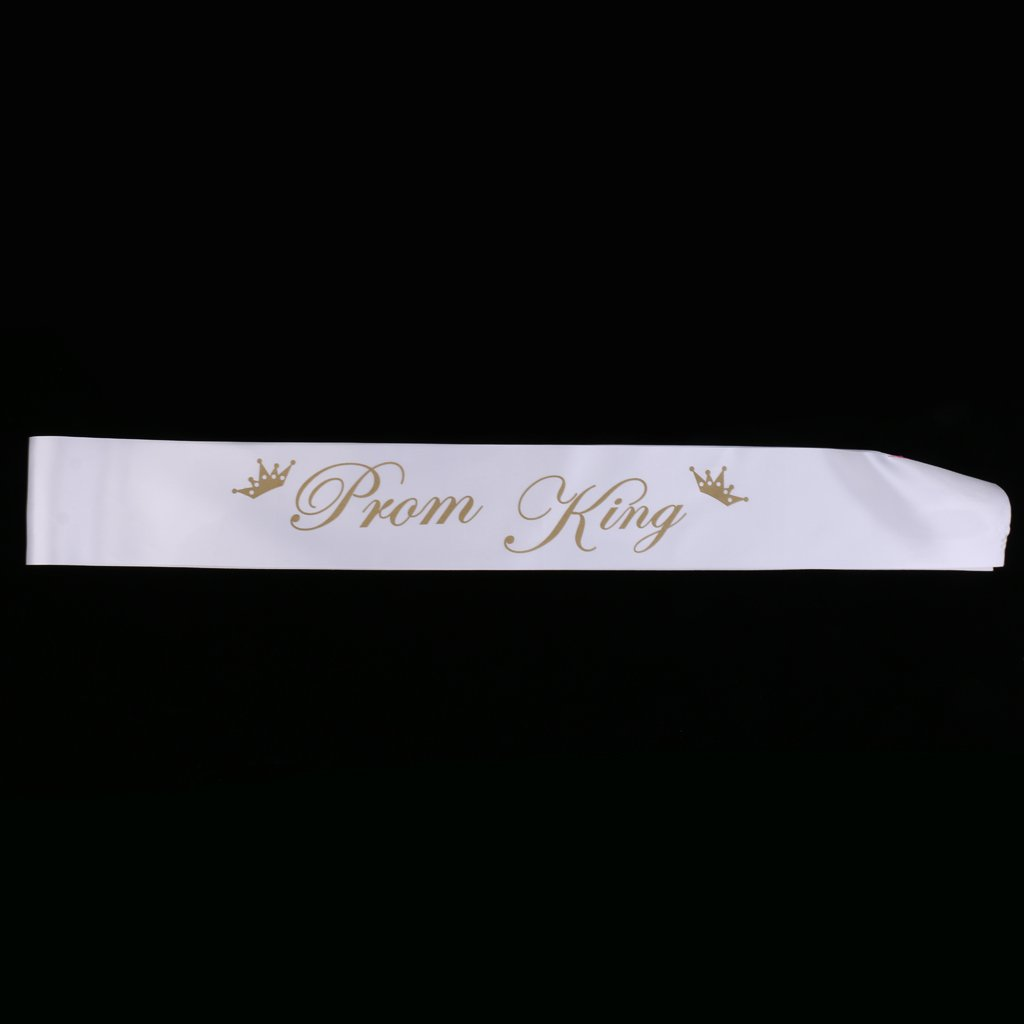 D DOLITY Pack of 2//Set Prom Queen Prom King Satin Sash Party Club High School Photo Props