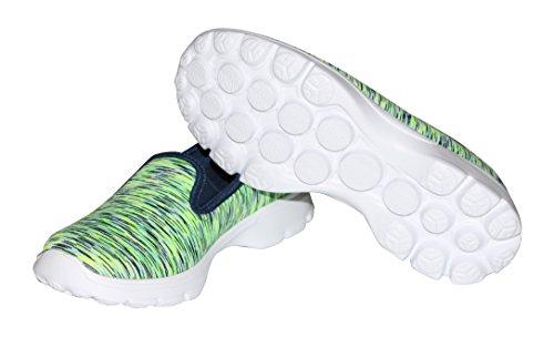 Dellukee USB Lade LED Beleuchtung Schuhe Fashion Flashing Sneaker W-grün