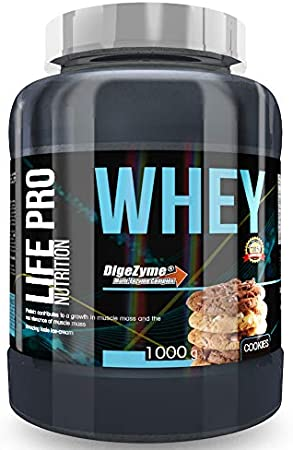 Life Pro Whey 1Kg   Suplemento Deportivo, 78% Proteína de Concentrado de Suero, Protege Tejidos, Anticatabolismo, Crecimiento Muscular y Facilita ...