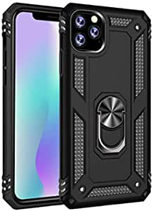 iPhone 11 Pro Max Case, 2 in 1 Heavy Duty Case Shockproof Armor Cover for iPhone 11 Pro Max 6.5 Inch Release 2019- Black