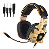 SADES SA818 Xbox one Headset 3.5mm Stereo Wired Over Ear Gaming Headset with Mic, Noise Cancelling and Volume Control for New Xbox One/PC/Mac/PS4/Table/Phone (Camouflage)