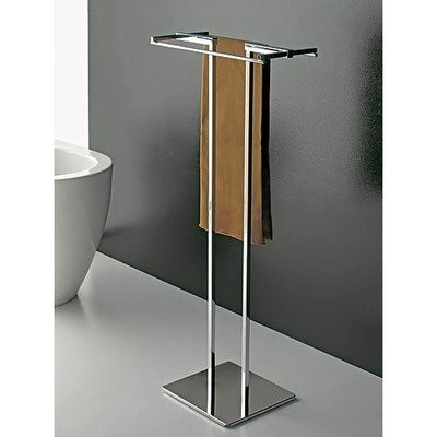 - Toscanaluce 877-638845329750 Eden Collection Square Brass Towel Stand, Chrome