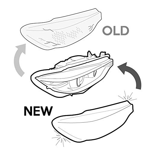 Headlight Lens Covers Replacement For Ml W166 2011 2015 Pair Lr